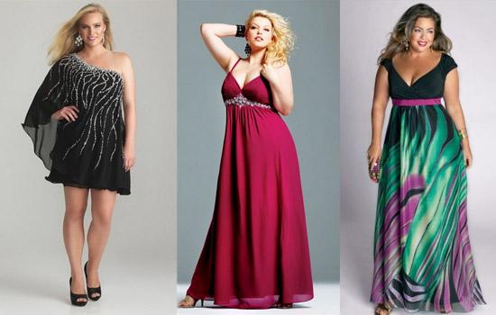 Платья с декольте для полных
