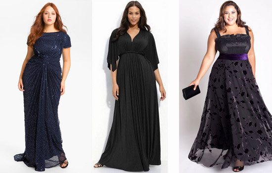 Каталог нарядных платьев для полных