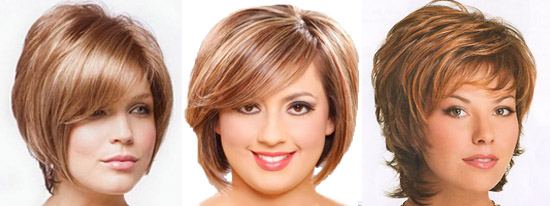 Фото прически на короткие волосы для полных женщин