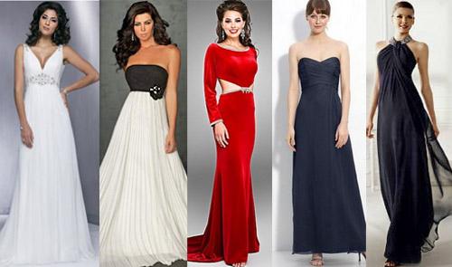 Фото платьев для высоких