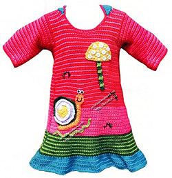 Красивая аппликация для детского платья (фото)