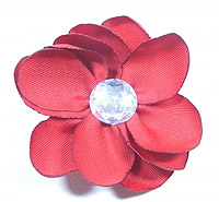 Тканевый цветок со стразом (фото)