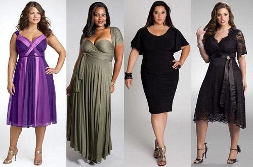 Фасоны вечерних платьев на полных женщин
