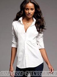 Фото классической белой блузки.