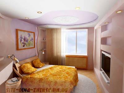 Функциональная расстановка мебели в спальне.