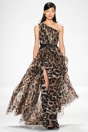 Платье с модным леопардовым принтом (фото)