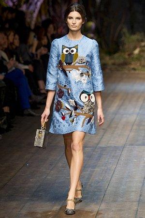 Платье с изображением сов (фото)