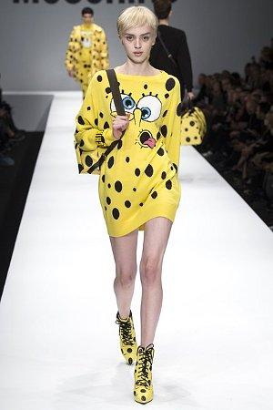 Платье с расцветкой под Губку-Боба (фото)