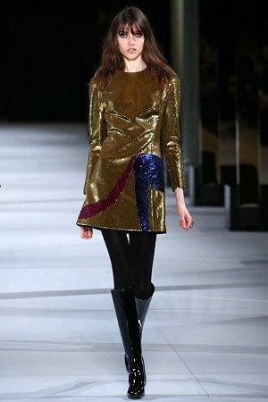 Платье с золотистым отливом (фото)