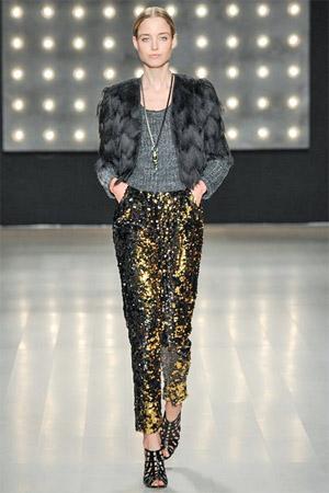 Модные блестящие брюки (фото)