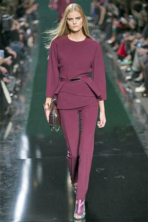 Модные брюки вишневого цвета от Elie Saab (фото)