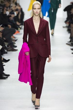 Бордовый жакет из новой коллекции Cristian Dior (фото)