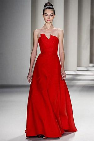 Красное вечернее платье от Carolina Herrera