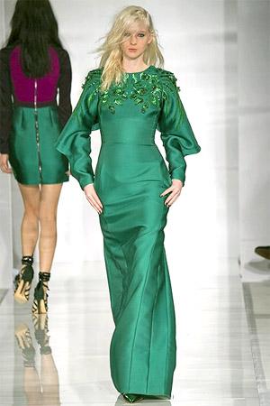 Зеленое платье (фото)