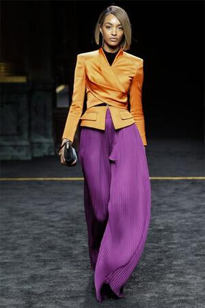 Красивая фиолетовая юбка от Balmain (фото)