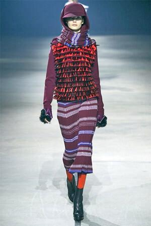 Полосатый принт на юбке от Kenzo (фото)