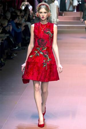 красные платья 2016 фото новинки