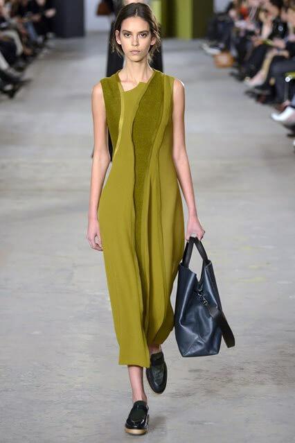 Деловое платье 2016-2017 асимметричного кроя
