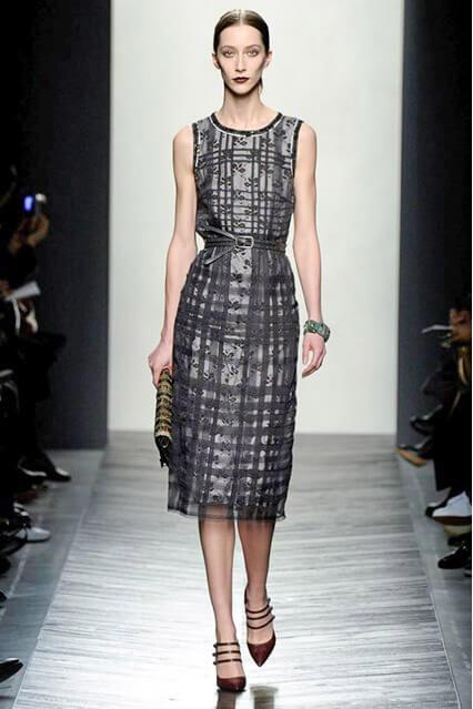 Офисное платье-футляр от Bottega Veneta