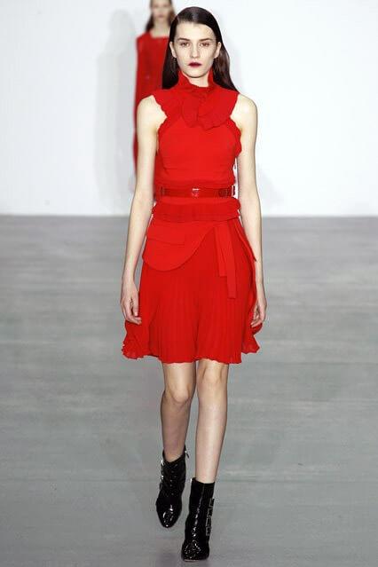 Красное коктейльное платье от Antonio Berardi