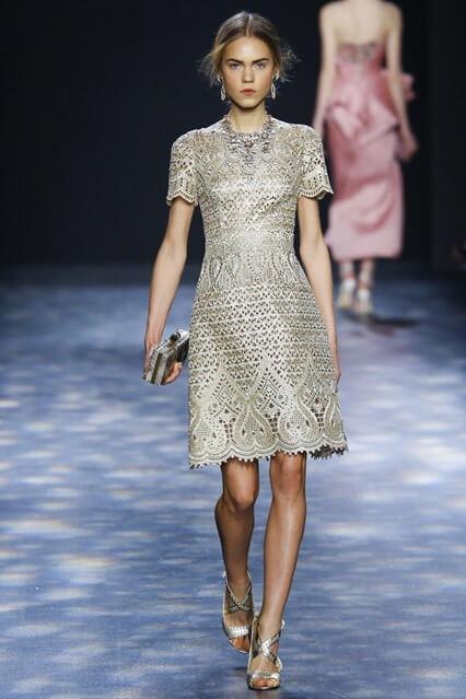 Коктейльное платье от Marchesa