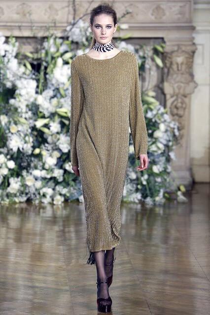 Вязаное деловое платье