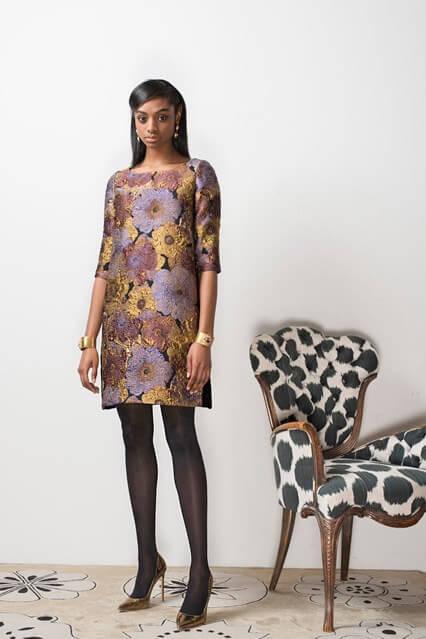 Платье офисного стиля свободного покроя