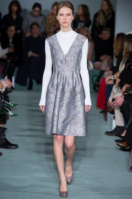 Платье из коллекции осень-зима 2016/2017 от Oscar de la Renta