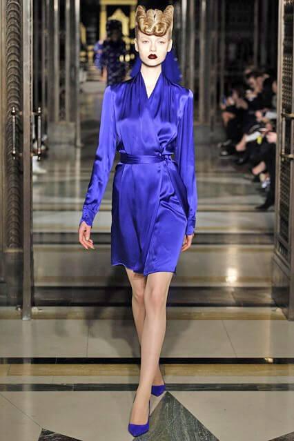 Синее деловое платье 2016-2017 от Gareth Pugh