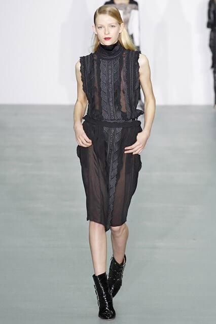 Деловое платье черного цвета от Antonio Berardi