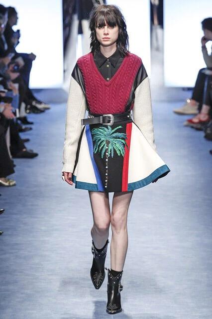 Клешеная мини-юбка от Fausto Puglisi