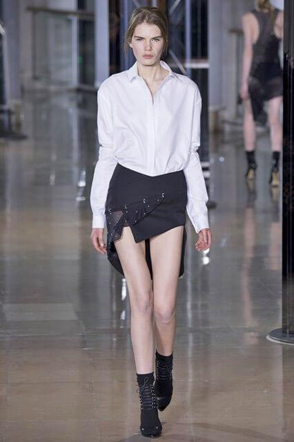 Асимметричная юбка от Anthony Vaccarello