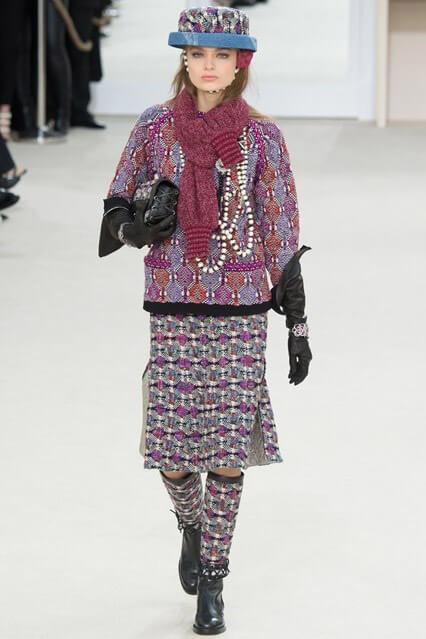 Юбка из твида от Chanel