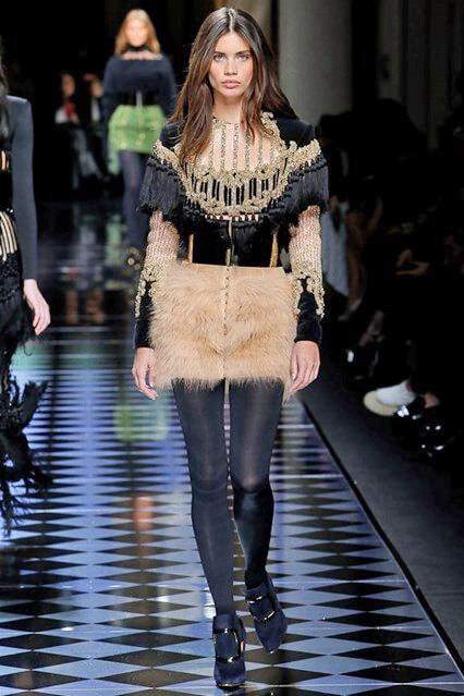 Меховая юбка 2016-2017 из коллекции Balmain