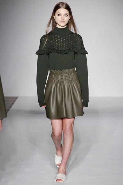 Кожаная юбка осень-зима 2016-2017 (фото)