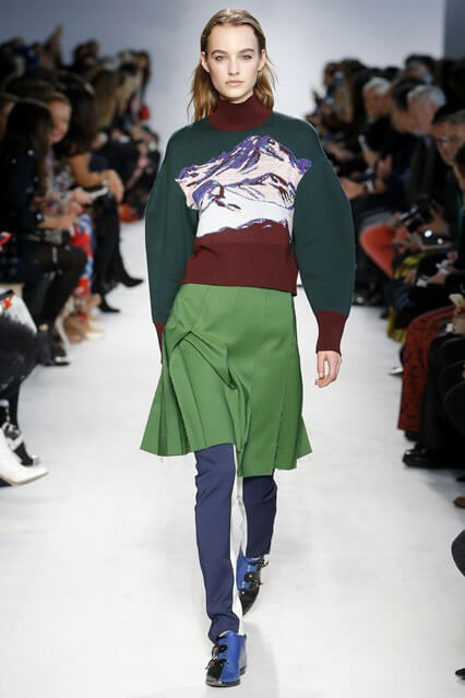 Модная зеленая юбка 2016-2017 от Emilio Pucci