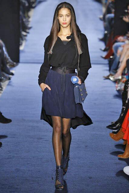 Синяя юбка из коллекции Alexis Mabille