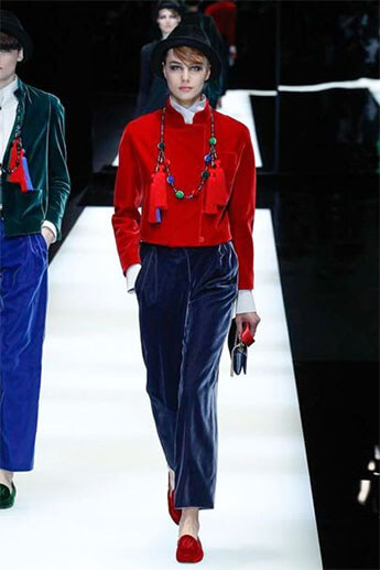 Бархатные брюки от Giorgio Armani