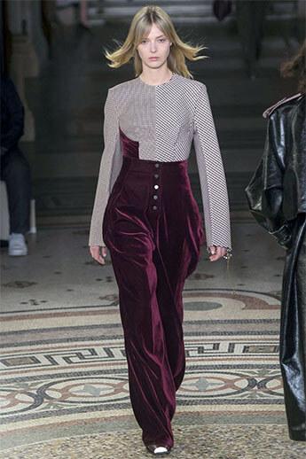 Бархатные брюки из коллекции Stella McCartney