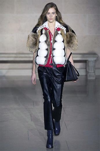 Кожаные брюки от Louis Vuitton