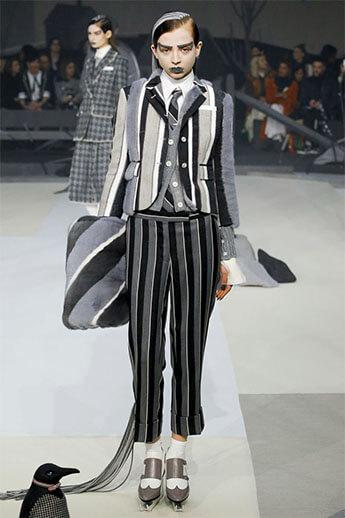 Полосатые брюки из коллекции Thom Browne