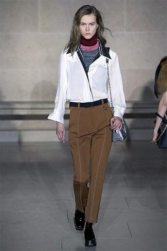Коричневые брюки от Louis Vuitton