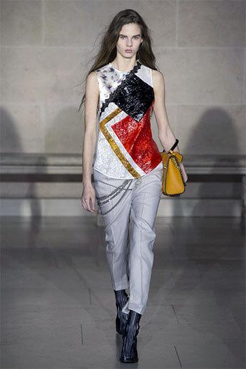 Белые брюки от Louis Vuitton