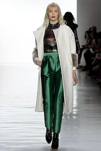 Зеленые брюки из коллекции Bibhu Mohapatra