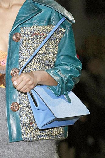 Голубая сумочка от Prada