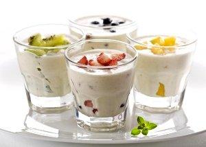 Кефир с фруктами (фото)