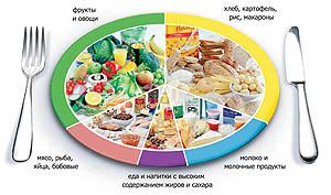 Сбалансированный рацион при нормальном типе метаболизма.