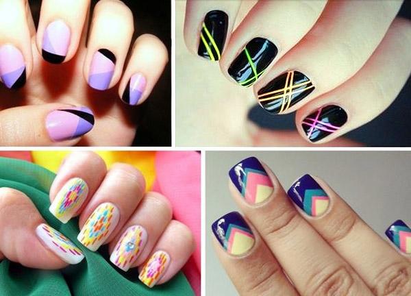Ногти рисунок геометрический