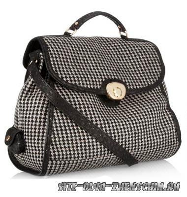 Фото модной сумочки из ткани сезона 2011-2012.