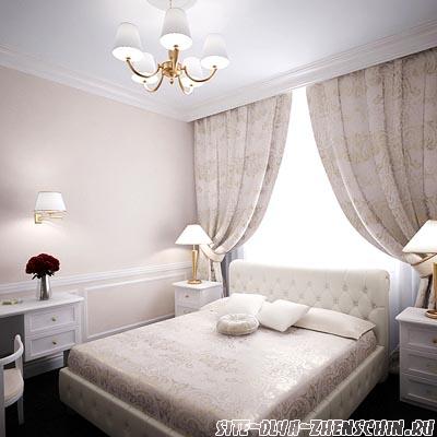 Маленькая светлая спальня. Фото.